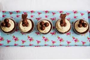 malteaster bunnies cupcakes