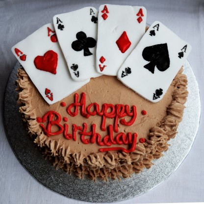 Playing Cards Marble Cake